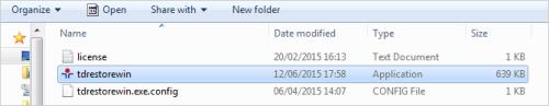 tdrestorewin file