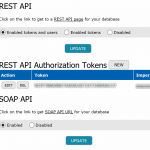 REST, SOAP API control options