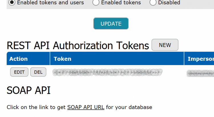 REST and SOAP API control