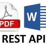 Word/PDF document generation via REST API