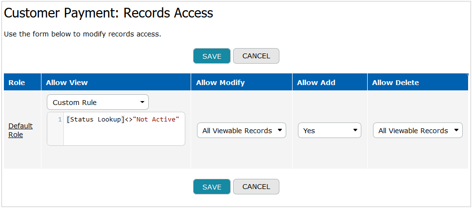 Record Access Details