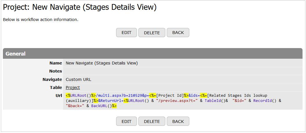 Custom URL in Navigate 1