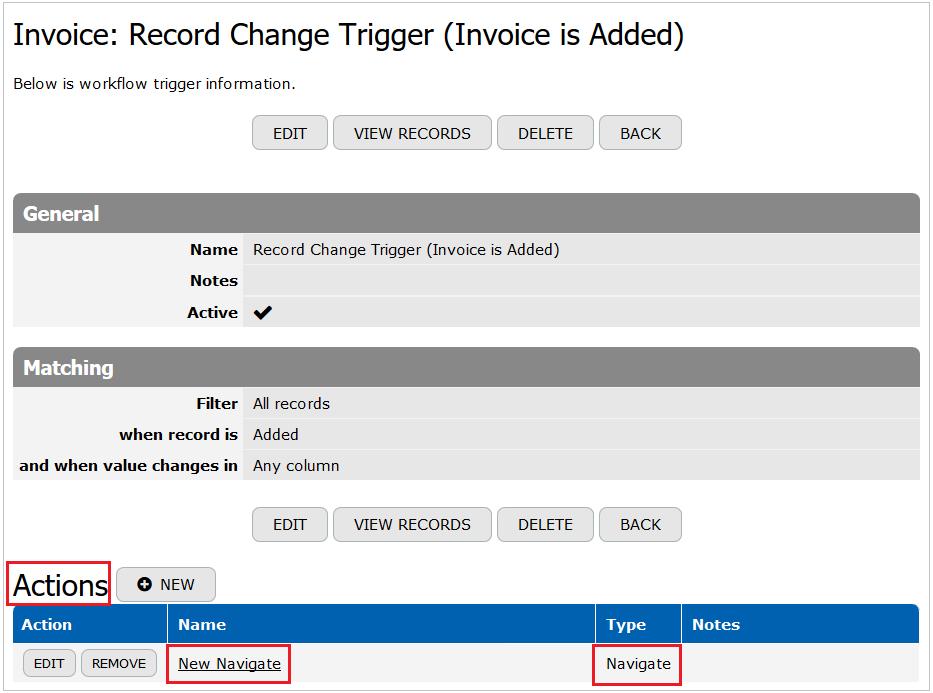 Record Change Trigger