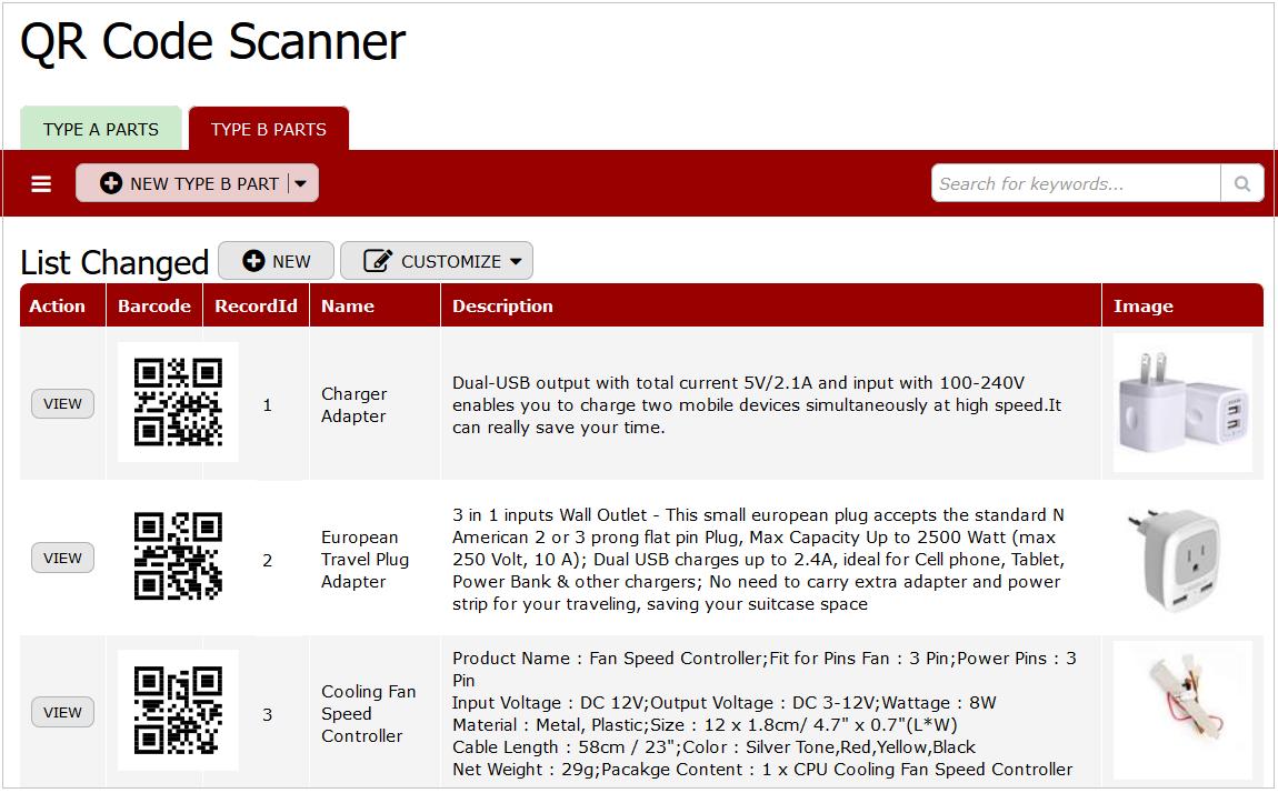 QR Code Scanner B