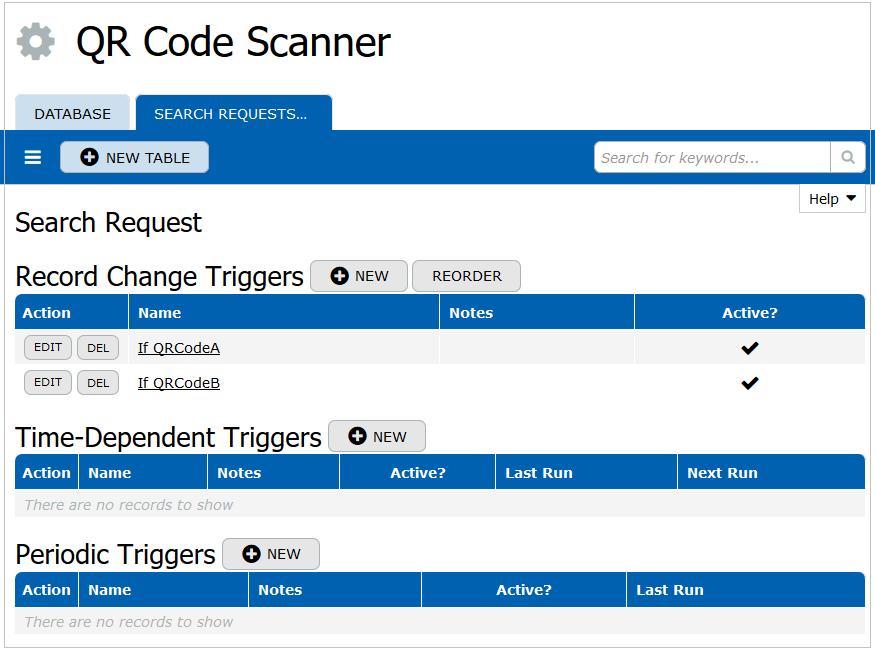 QR Code Scanner Triggers