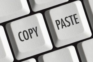 Copy and paste keyboard buttons