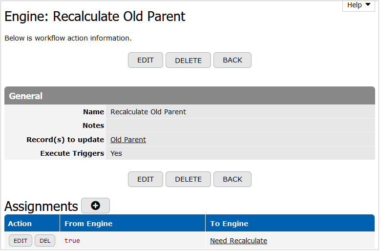 Recalculate Old Parent