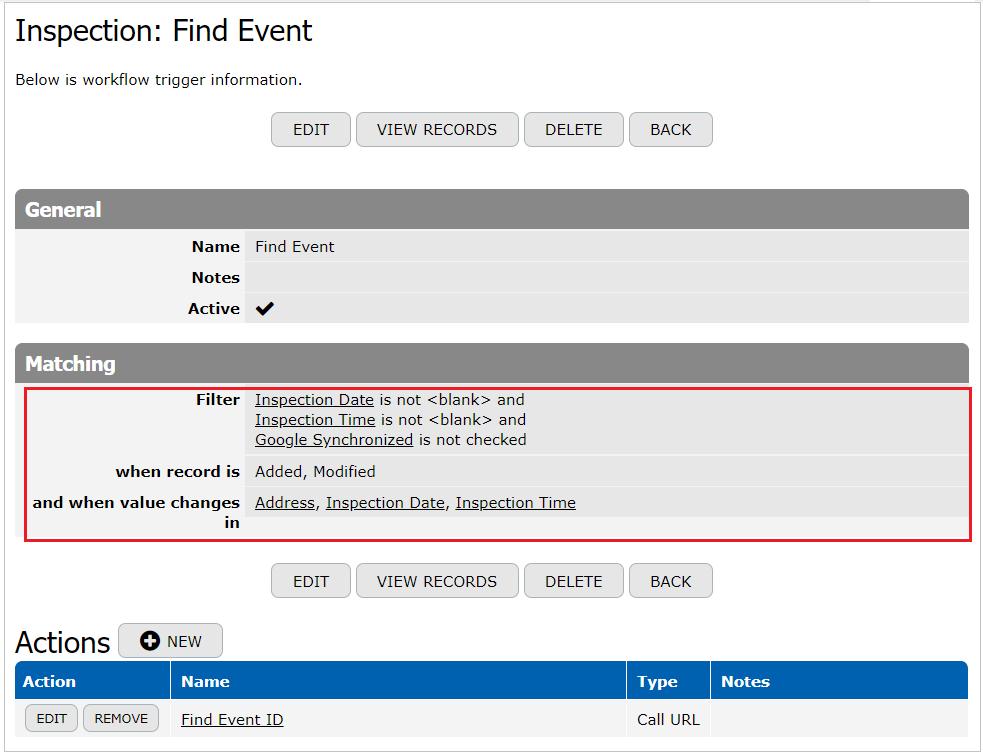 Find Event Trigger