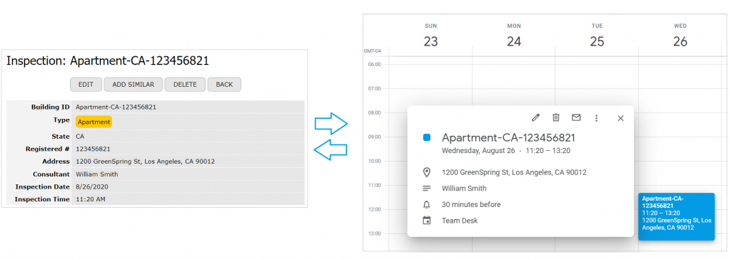 Synchronization with Google Calendar