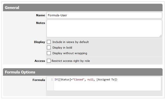 Formula-User column