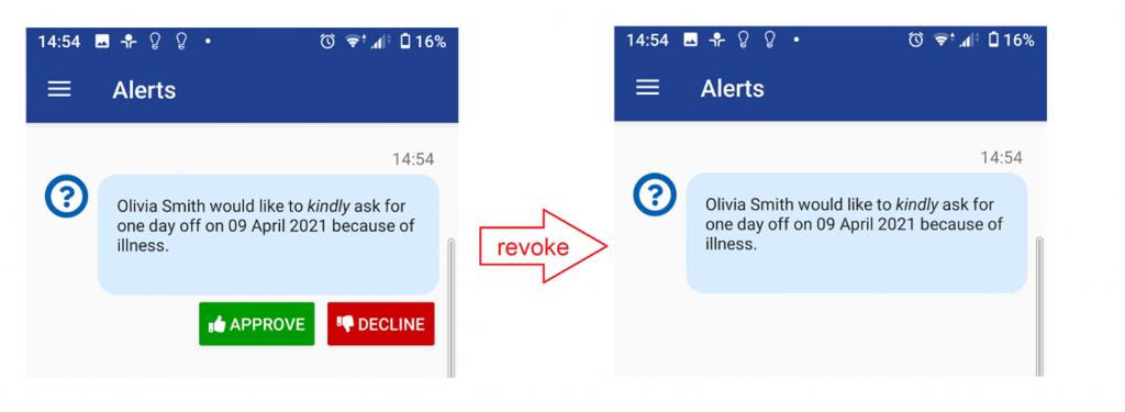 Revoke Aler from Mobile Device