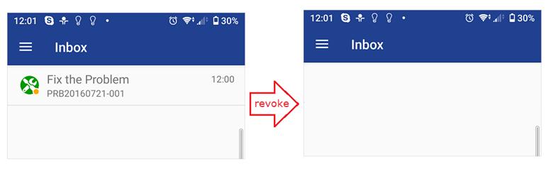 Revoked Mobile request